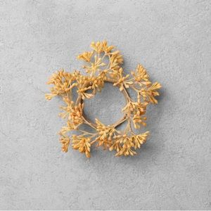 4 Pc Faux Golden Sedum Napkin Ring Set